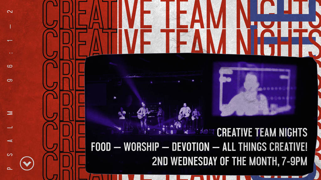 Creative Team Night – Worship Rehersal